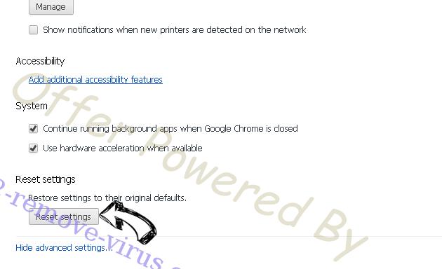 FluBot Malware Chrome advanced menu