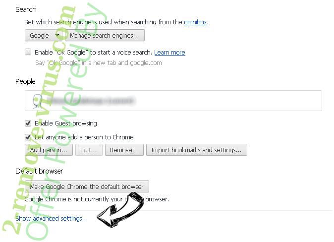 FluBot Malware Chrome settings more