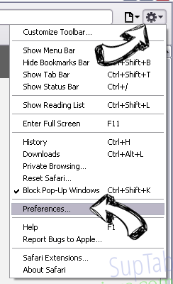 crouchserf.com Safari menu