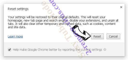 Thesafebrowsing.com Chrome reset