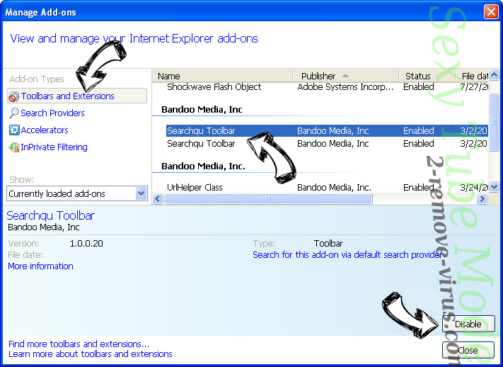 Safe Finder Mac Virus IE toolbars and extensions
