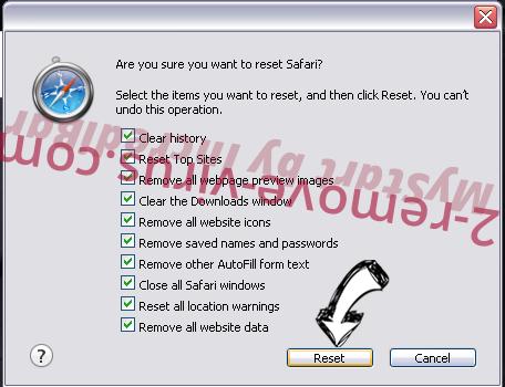 PDFSearchio virus Safari reset