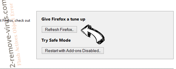 RecipeSearch Firefox reset