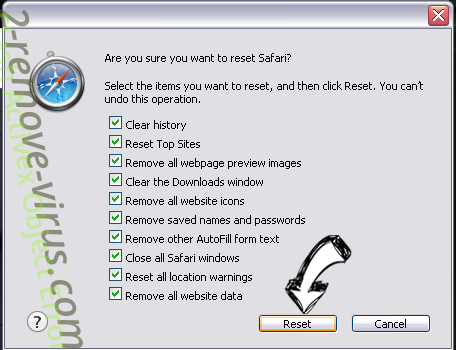 RecipeSearch Safari reset
