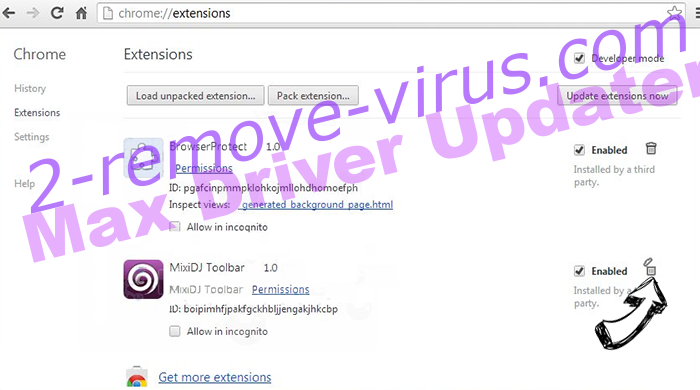 Auratab Hijacker Chrome extensions remove