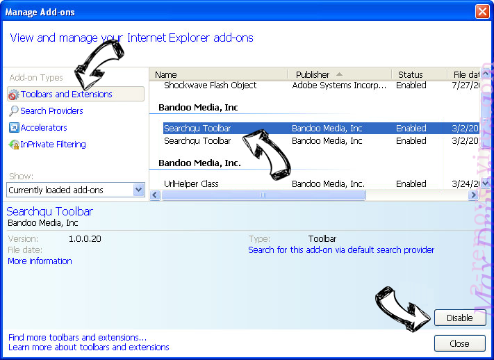 Auratab Hijacker IE toolbars and extensions