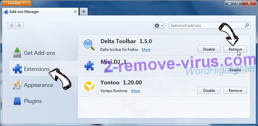 Infopicked.com Firefox extensions