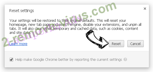 Searchnowbrowser.com Chrome reset