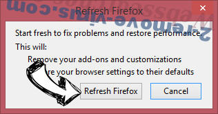 Stop Local Classifieds Hub Firefox reset confirm