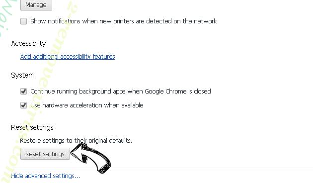 Search.gilpierro.com Chrome advanced menu