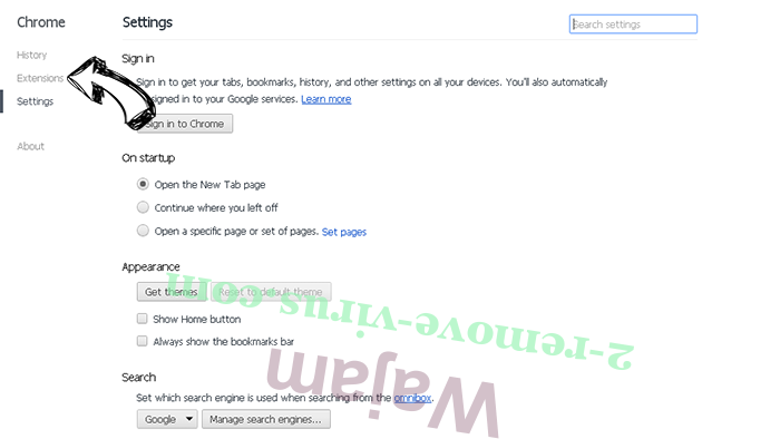 Search.gilpierro.com Chrome settings