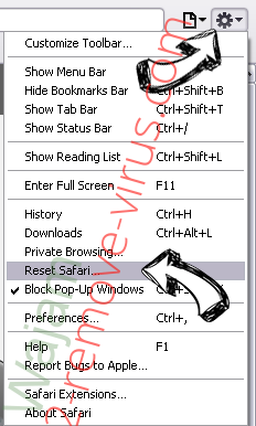 Search.gilpierro.com Safari reset menu