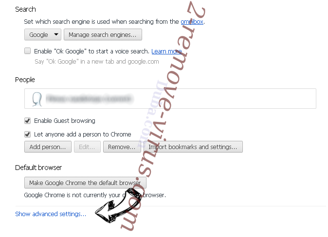 PDFSearchz Chrome settings more