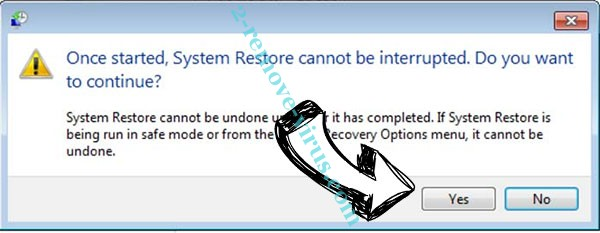 Domn Virus removal - restore message