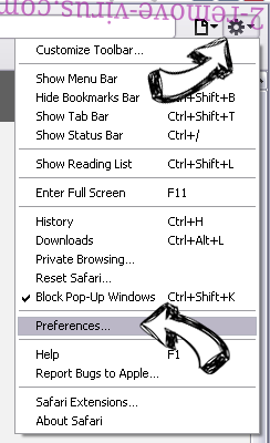 PDFSearchz Safari menu