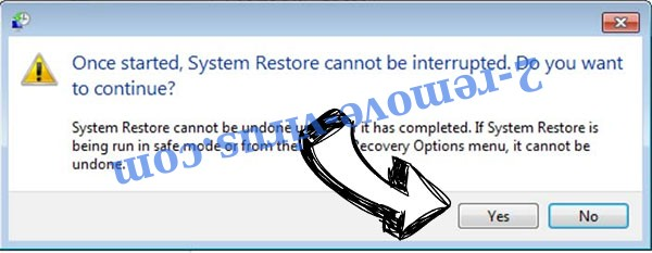 .LIVE extension virus removal - restore message