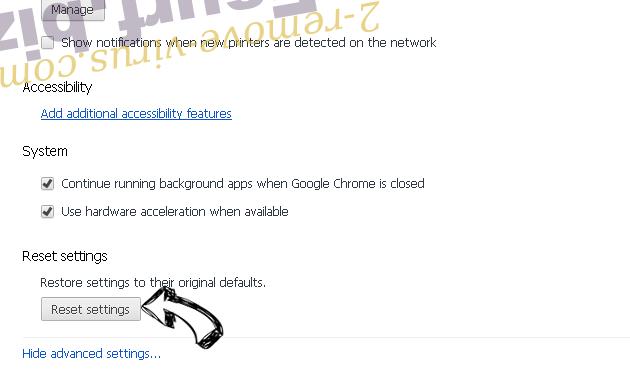 Read-before-the-rest.com Ads Chrome advanced menu