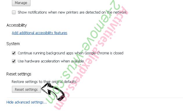 ConverterSearchNow Chrome advanced menu