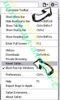 ConverterSearchNow Safari reset menu
