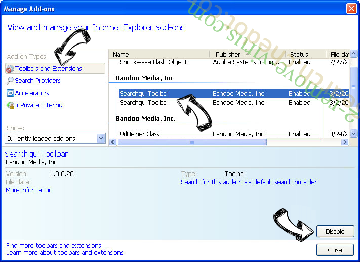 MovieSearches IE toolbars and extensions