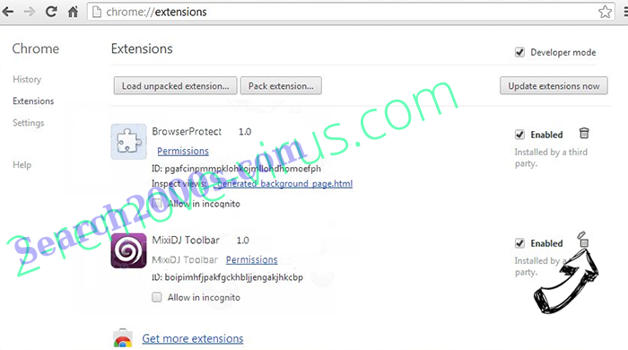 Bethanyharrell.pro Chrome extensions remove