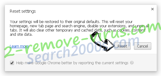 Redirectmaster.com Chrome reset