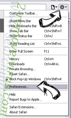 MacShiny Unwanted Application Safari menu