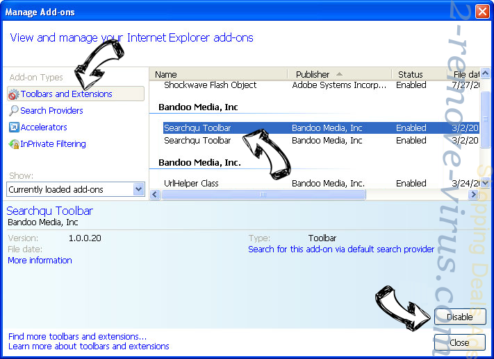 AssistiveFile virus IE toolbars and extensions