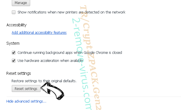 MacWebService Chrome advanced menu