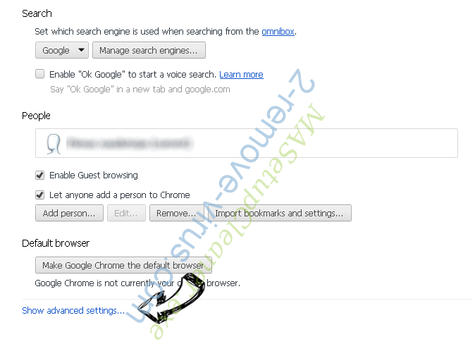 SearchRadioStation Chrome settings more