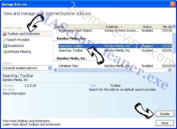 SearchRadioStation IE toolbars and extensions