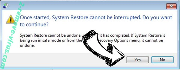 .Copa file virus removal - restore message