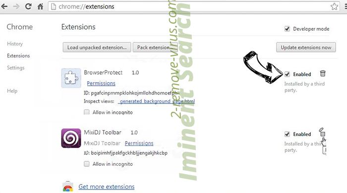 Aidraiphejpb.com Ads Chrome extensions disable