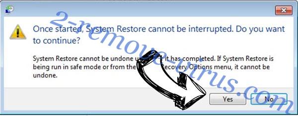 GGR virus removal - restore message