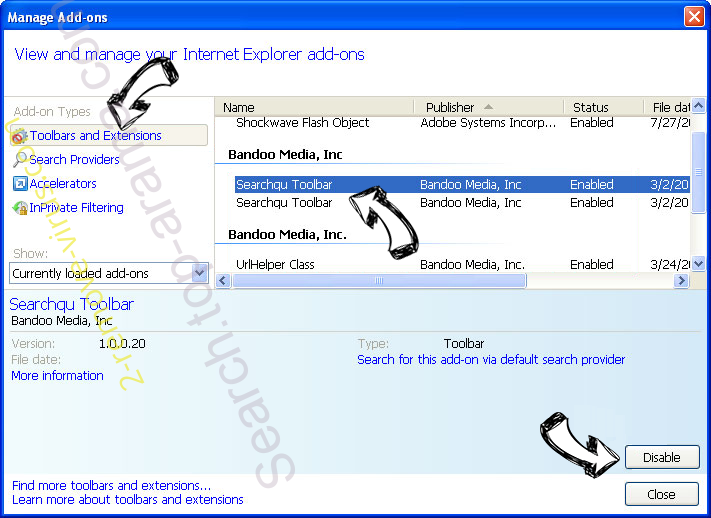 OurConverterSearch IE toolbars and extensions