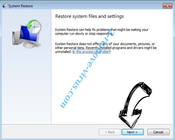 Get rid of .Nibiru Files Ransomware - restore init