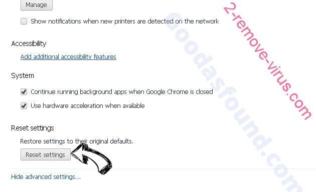 ProductEvent adware Chrome advanced menu