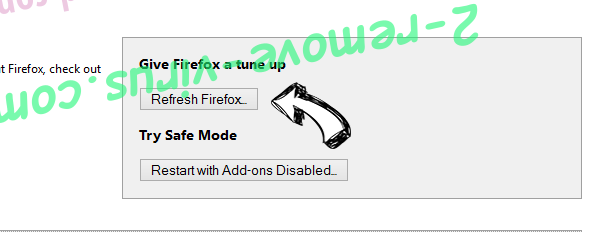 Get Directions Firefox reset