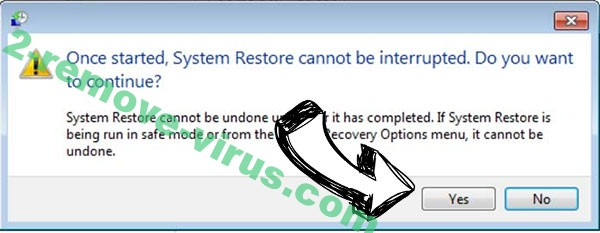Deal ransomware removal - restore message