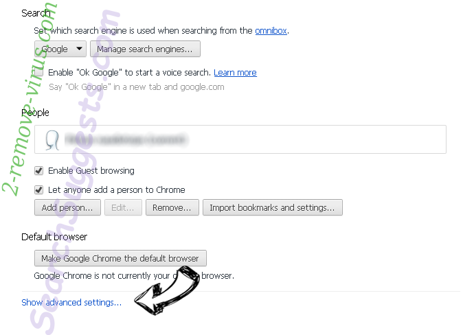 HDStreamSearch Chrome settings more