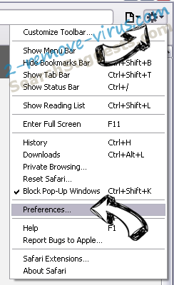 CrossBrowser Safari menu