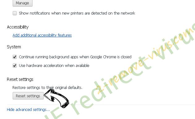ZenSearch.com Chrome advanced menu