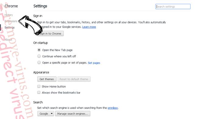 ZenSearch.com Chrome settings