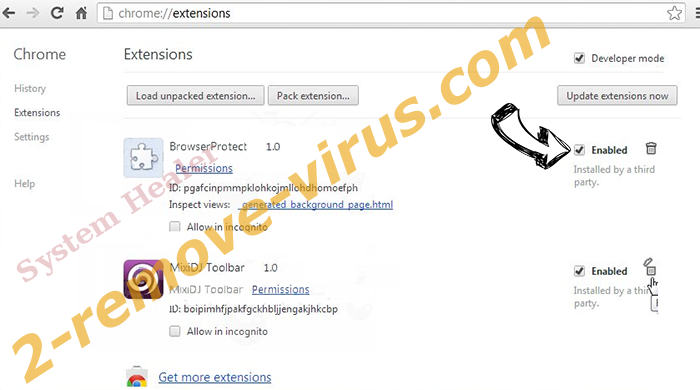Yootab browser hijacker Chrome extensions disable
