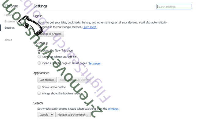 Historysanitizer.com Redirects Chrome settings