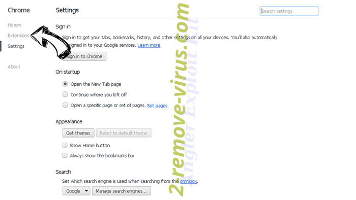 LogarithmicEntry browser hijacker Chrome settings