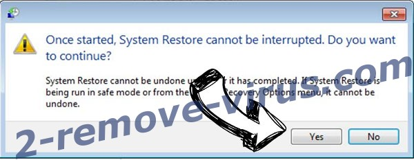 .Energy file ransomware removal - restore message