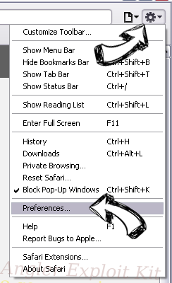 LogarithmicEntry browser hijacker Safari menu