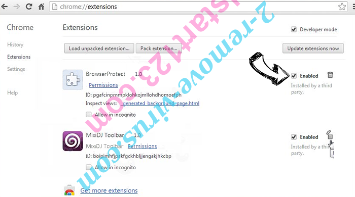 Searchnets.xyz Chrome extensions disable