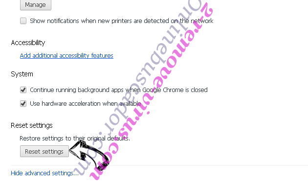 PDFConverterSearch4Free Chrome advanced menu